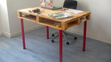 Návod na jednoduchý pracovný stôl z paliet